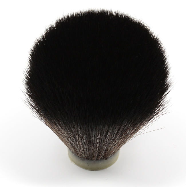 Black Synthetic Shaving Brush Knot 24mm