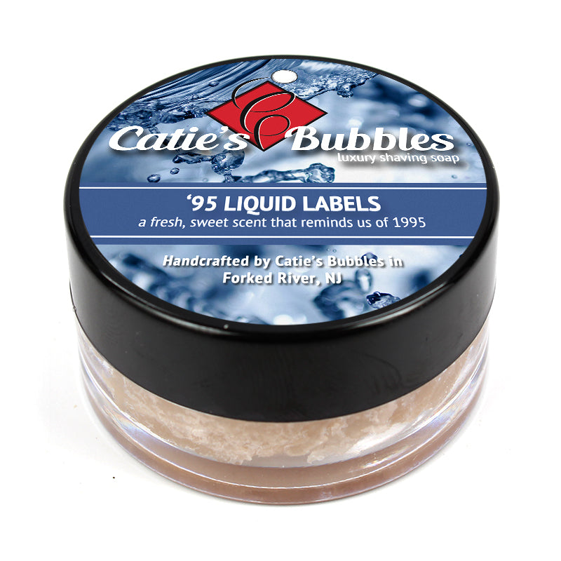 Catie's Bubbles - '95 Liquid Labels Shaving Soap Sample