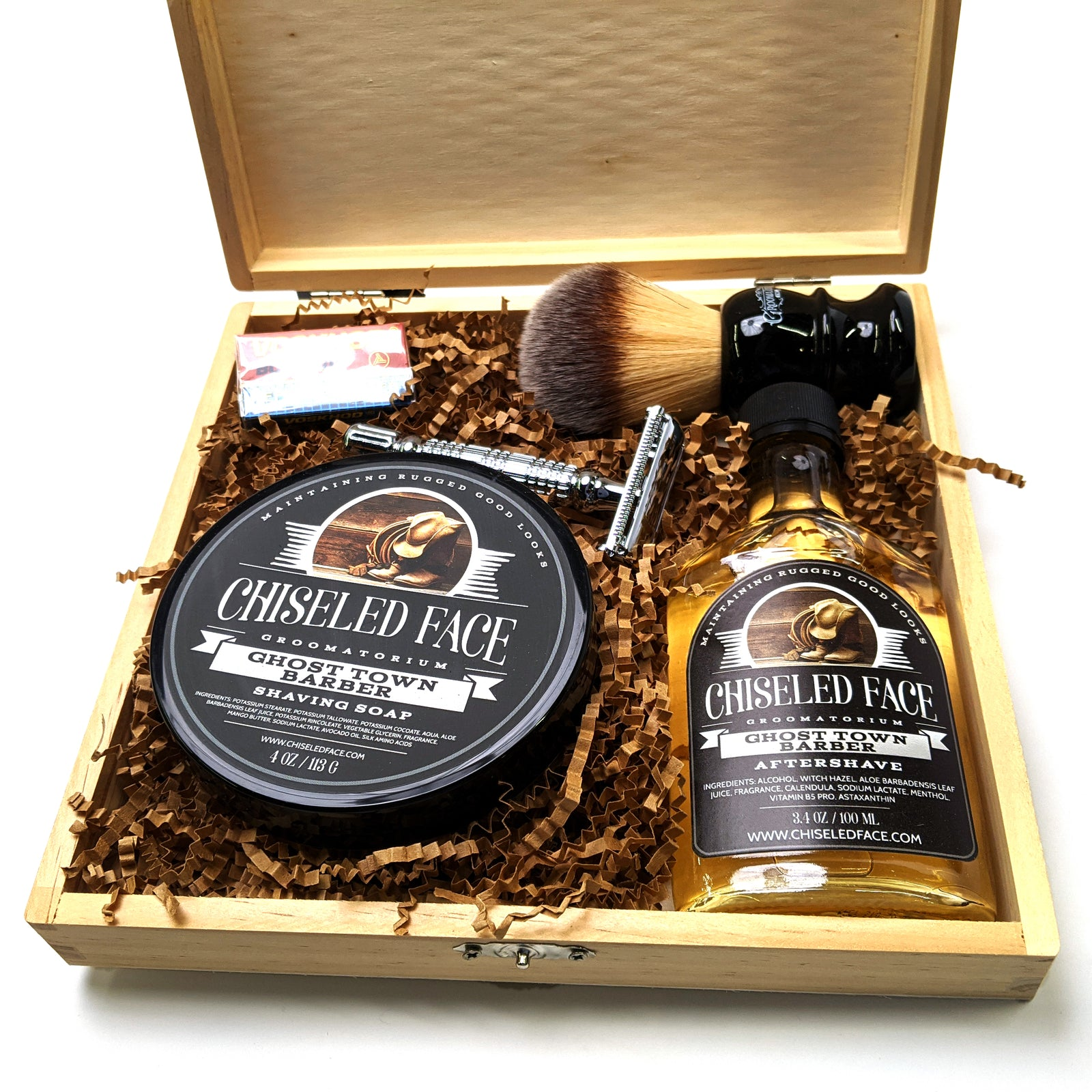 Wet Shaving Starter Kit in Wooden Gift Box – Free Shipping