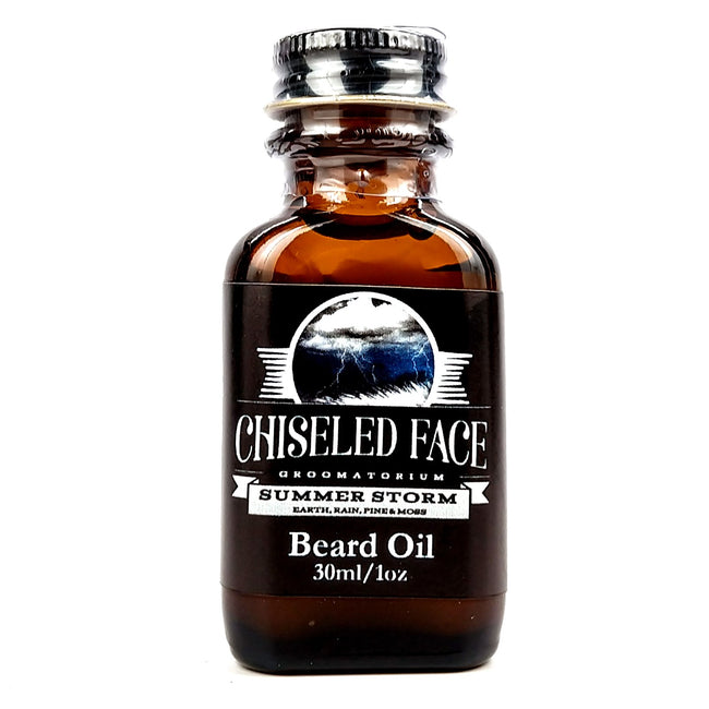 Chiseled face - Summer Storm Beard Oil, 1oz