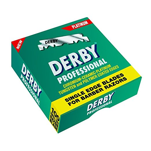 Derby Professional Single Edge Shavette Razor Blades 100 Pack