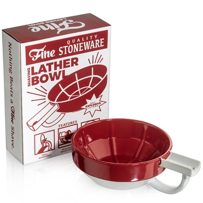 Fine - Red & White Shave Soap Bowl