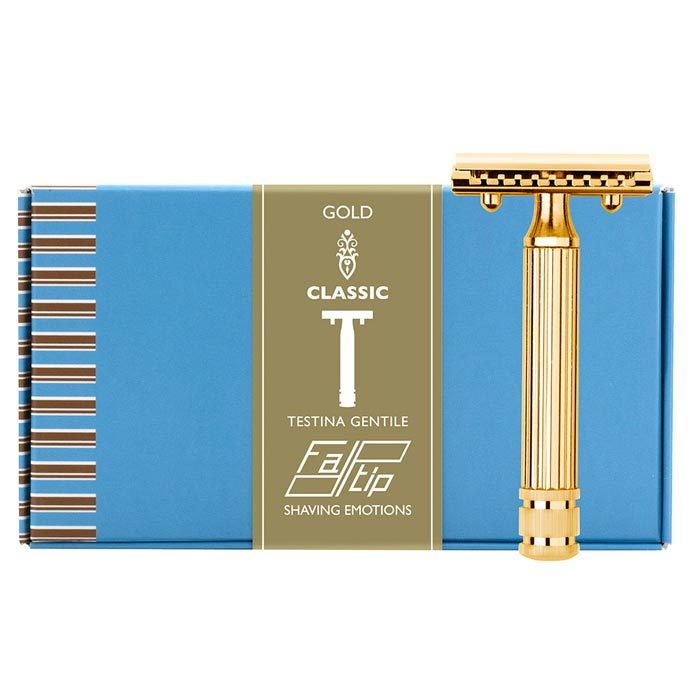 Fatip Classic Open Comb Double Edge Safety Razor - Gold