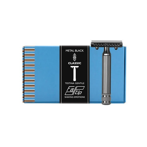 Fatip Grande Double Edge Safety Razor - Nickel Plated Open Comb Rasoio di Sicurezza