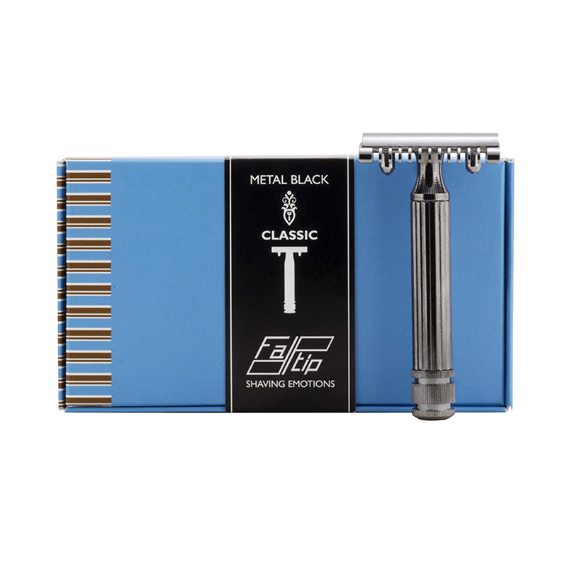 Fatip Metal Black Classic Original Open Comb DE Safety Razor