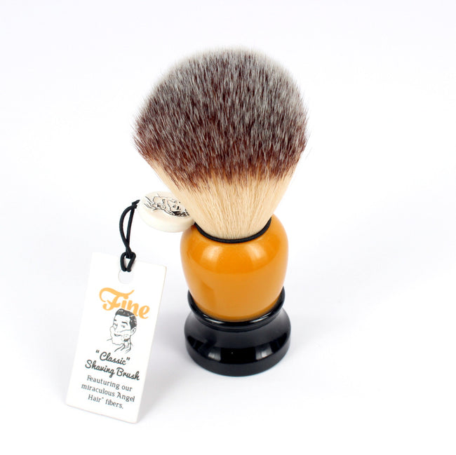 Fine - Classic Shaving Brush - Orange and Black 20mm