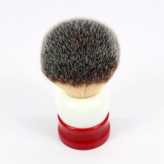 Fine - Stout Shaving Brush - Red and White 24mm