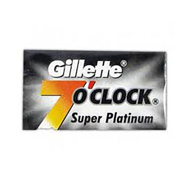 Gillette 7 O'Clock Super Platinum Double Edge Blades, 5 pack
