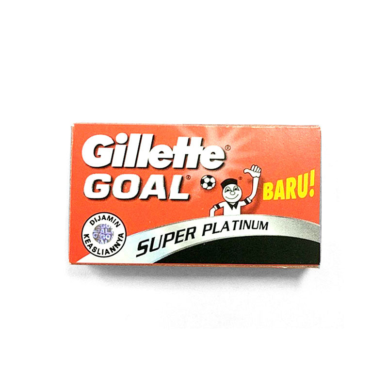 Gillette Goal Super Platinum DE Safety Razor Blades - 5 pack