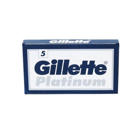 Gillette - Silver Blue DE Safety Razor Blades - 5 pack