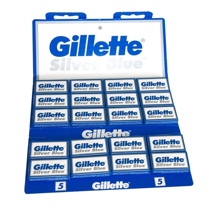 Gillette - Silver Blue DE Safety Razor Blades - 100 pack