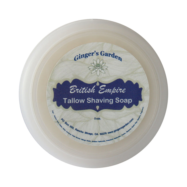 Ginger's Garden - British Empire - Shaving Soap
