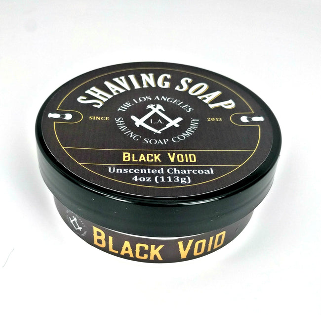LA Shaving Soap Co - Black Void Unscented Vegan Shaving Soap