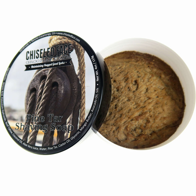 Chiseled Face – Pine Tar – All Natural – Shaving Soap
