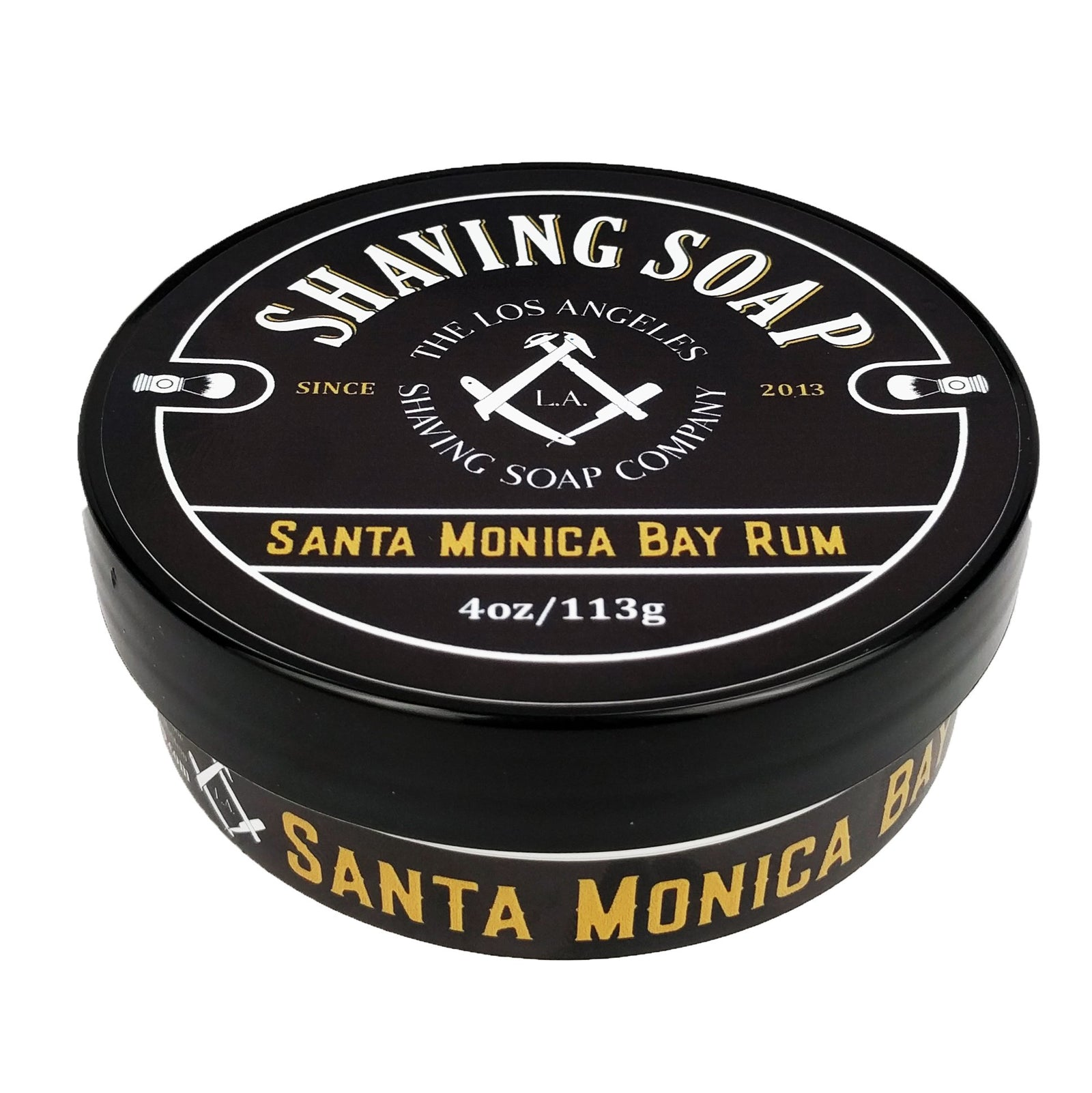 LA Shaving Soap Co - Santa Monica Bay Rum Vegan Shaving Soap