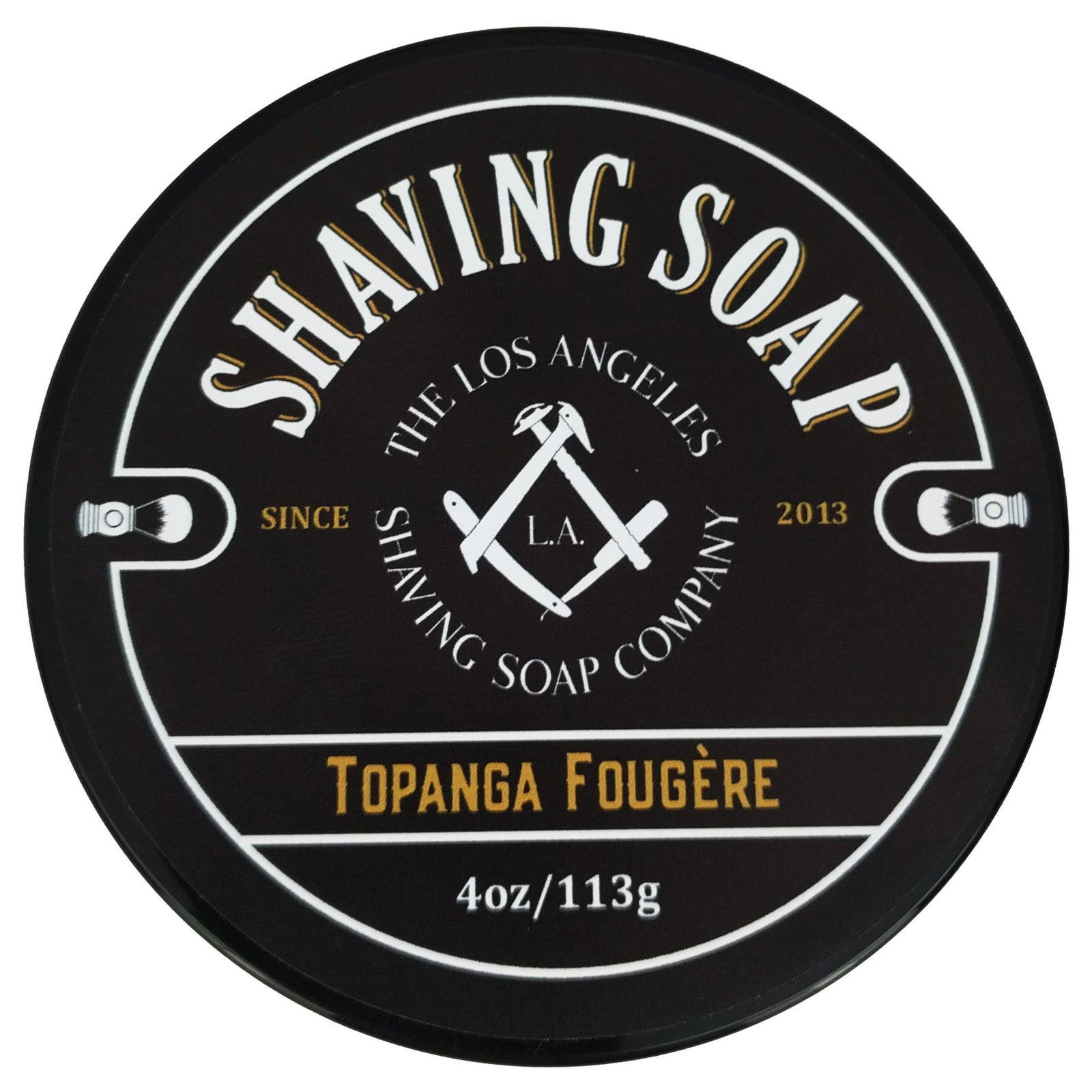 LA Shaving Soap Co - Topanga Fougère Shaving Soap