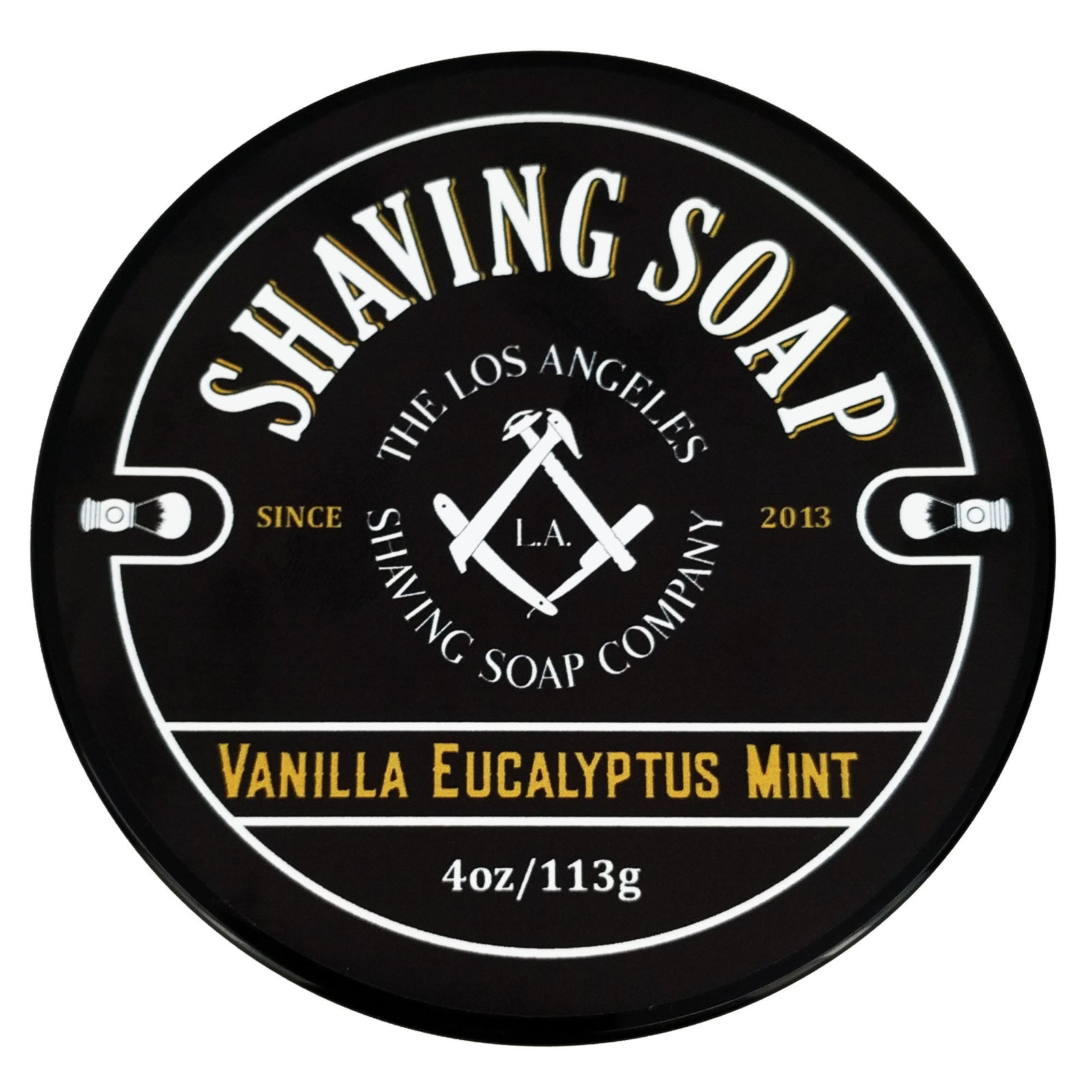LA Shaving Soap Co - Vanilla/Eucalyptus/Mint Shaving Soap