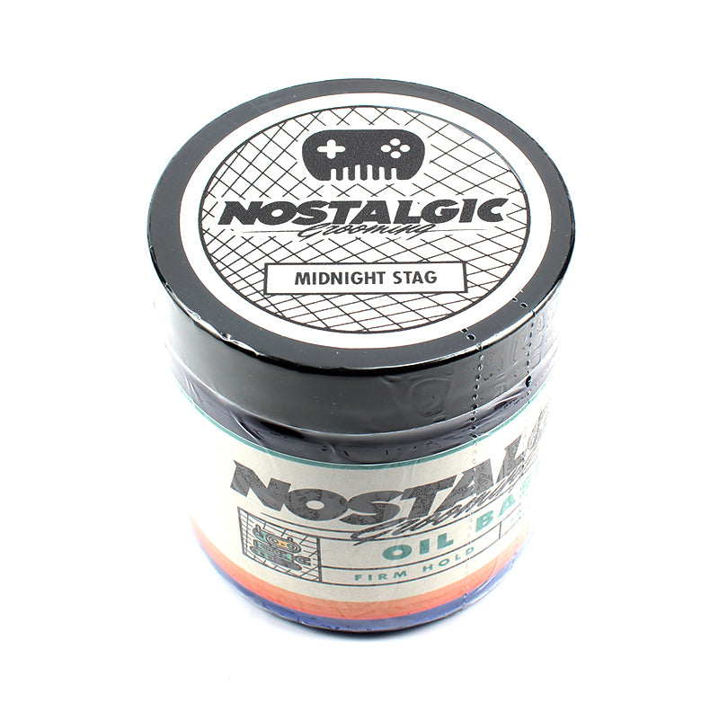 Nostalgic/Chiseled Face - Midnight Stag Oil Based Firm Hold Pomade