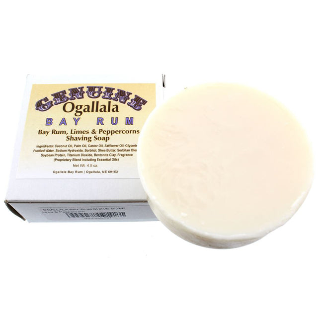 Ogallala – Bay Rum, Limes & Peppercorn Shaving Soap 4.5oz