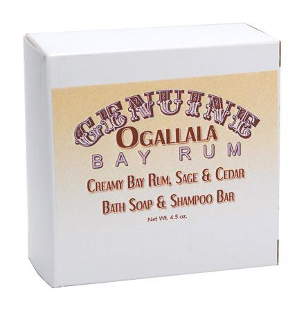 Ogallala – Bay Rum, Sage & Cedar Bath Soap & Shampoo Bar