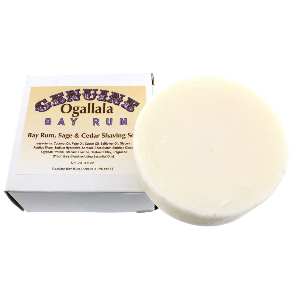 Ogallala – Bay Rum, Sage & Cedar Shaving Soap 4.5oz