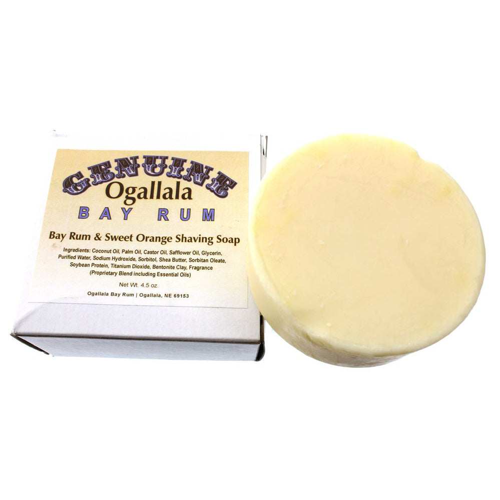 Ogallala – Bay Rum & Sweet Orange Shaving Soap 4.5oz