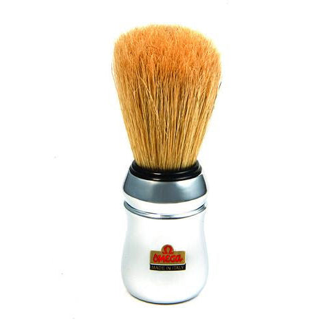 Omega - Boar Bristle Shaving Brush With Chromed Plastic Handle - 10083