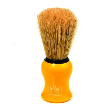 Omega - Boar Bristle Shaving Brush, Yellow - 10065Y