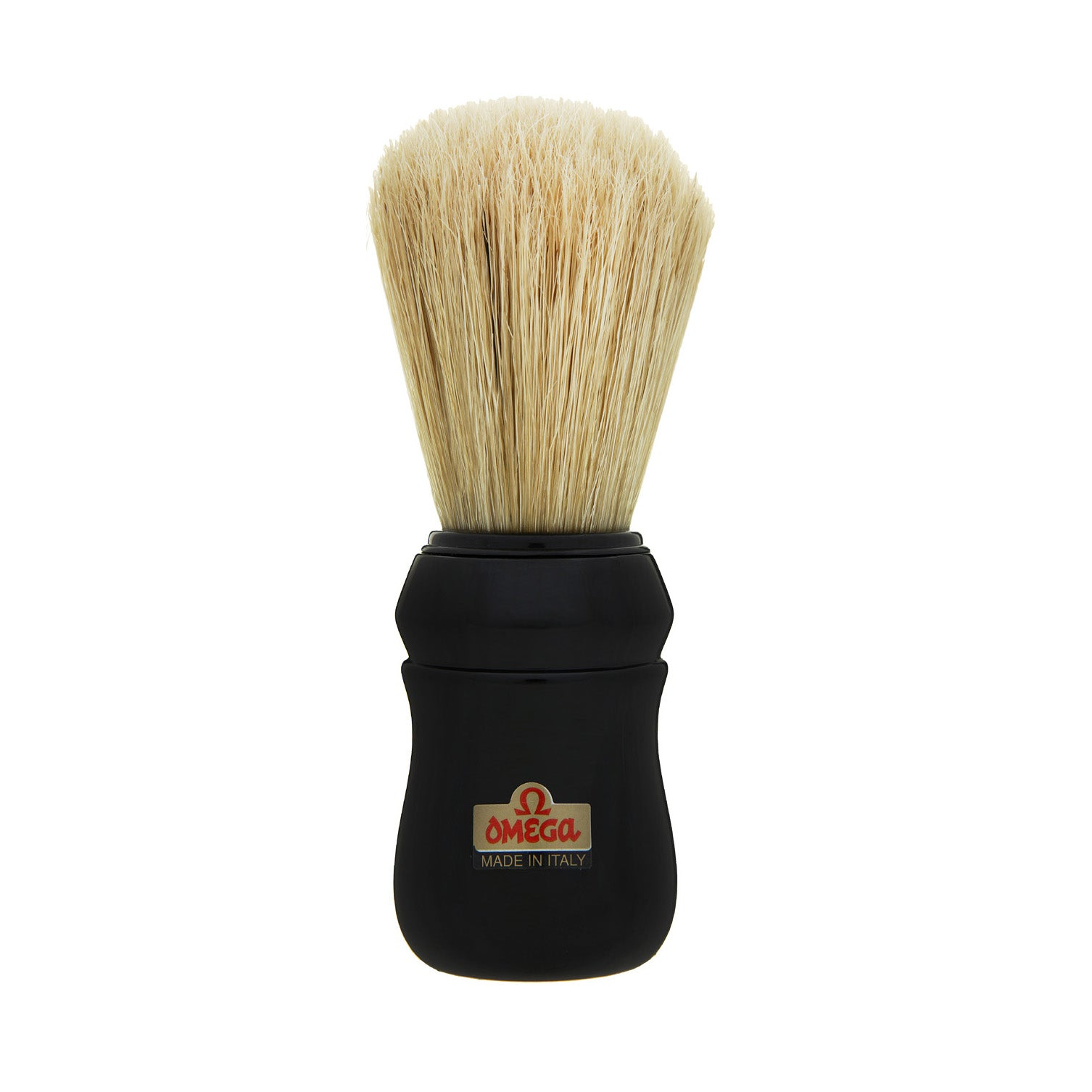 Omega - Boar Bristle Shaving Brush, ABS handle, Black - 10049