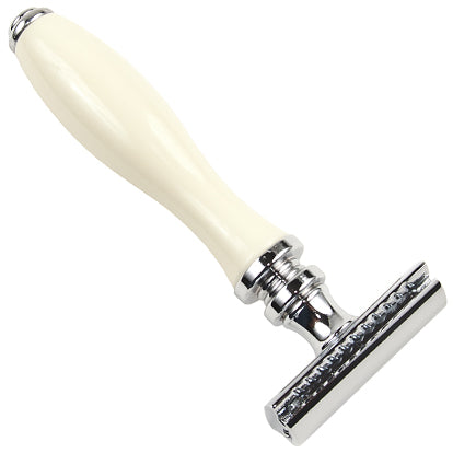 Parker - 111W Faux Porcelain (White) Double Edge Safety Razor