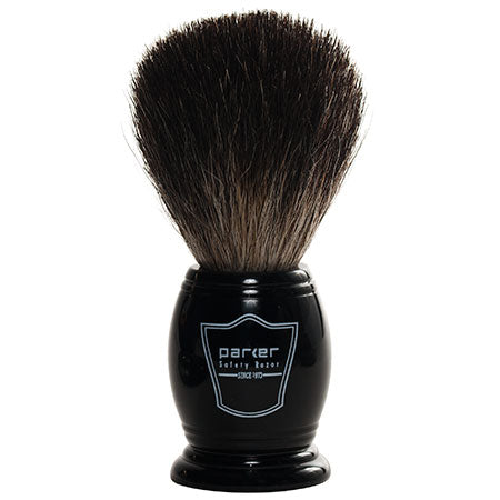 Parker - BKBB Black Resin Handle, Black Badger Shaving Brush