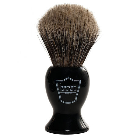 Parker - BKPB Long Black Resin Handle, Pure Badger Shaving Brush