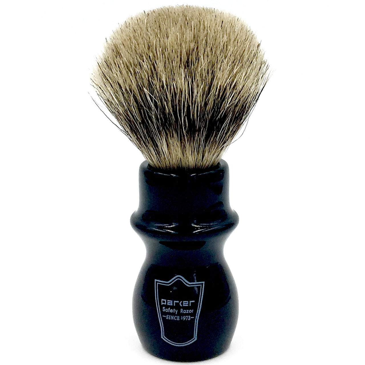 Parker - BMPB Black Mug Pure Badger Bristle Shaving Brush