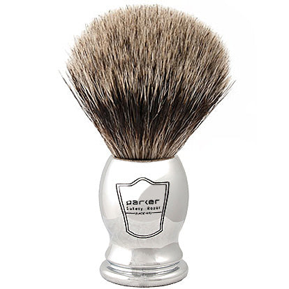 Parker - CHPB Chrome Handle, Pure Badger Shaving Brush