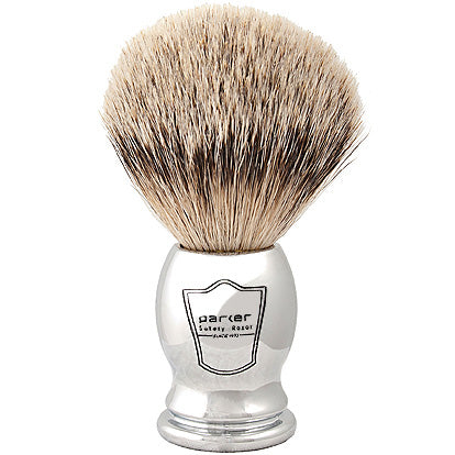 Parker - CHST Chrome Handle, Silvertip Badger Shaving Brush