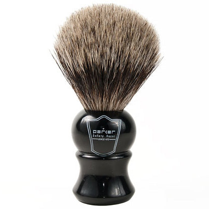 Parker - EHPB Ebony Handle, Pure Badger Brush Shaving Brush