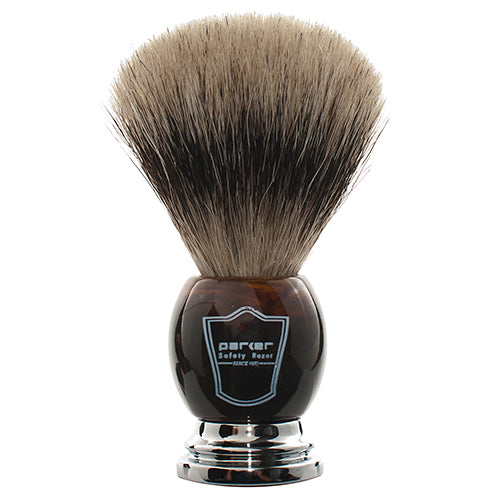 Parker - HHPB Deluxe Faux Horn, Pure Badger Shaving Brush