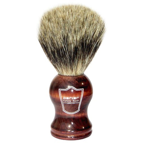 Parker - RWPB Rosewood Handle, Pure Badger Shaving Brush