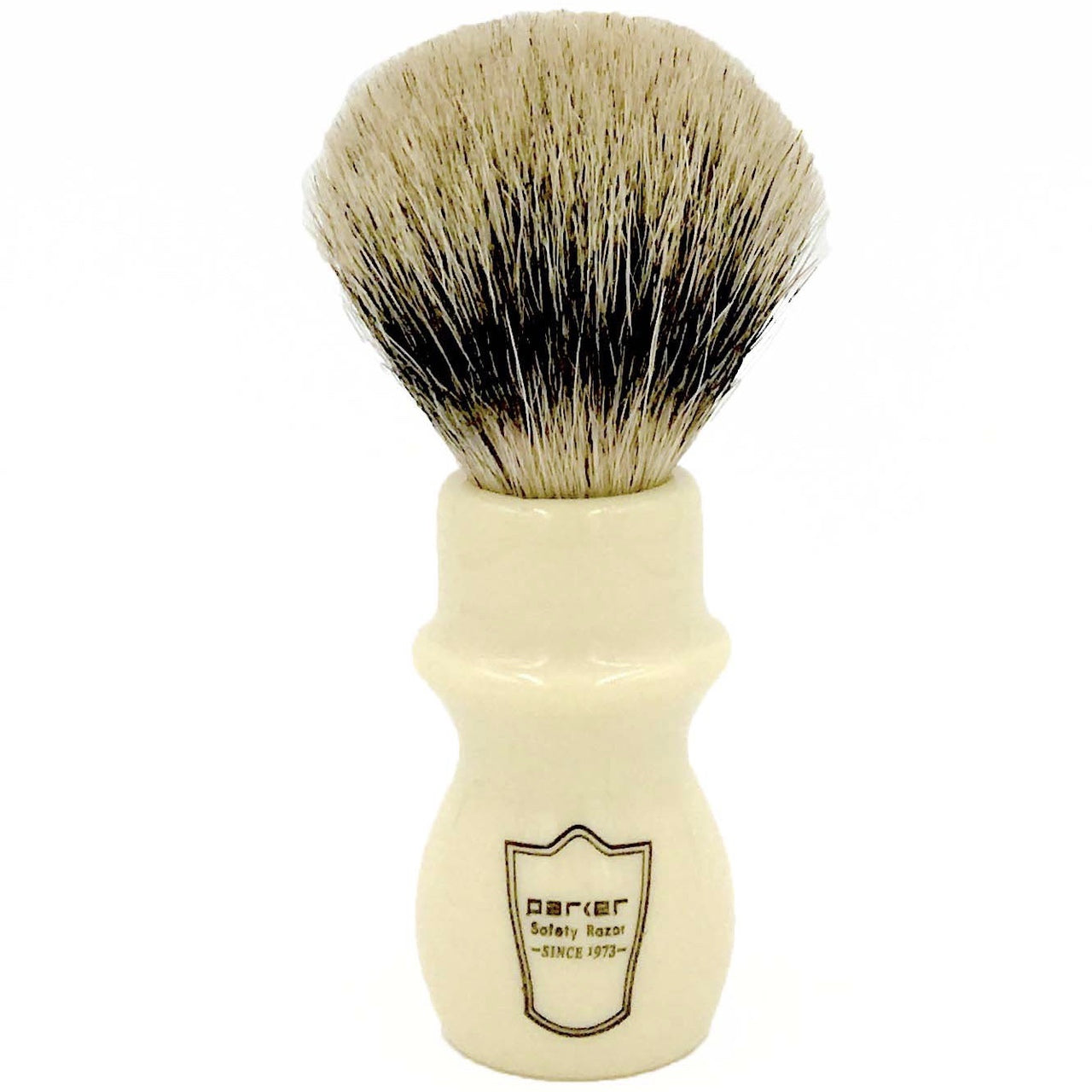 Parker - WMST White Mug Silvertip Badger Bristle Shaving Brush