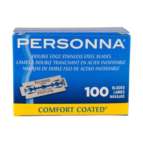 Personna Comfort Coated Double Edge Blades - 100 Pack