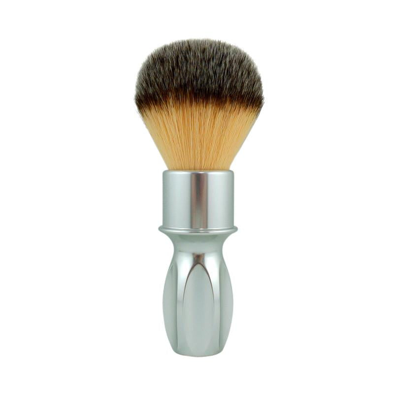 RazoRock - 400 Plissoft Synthetic Shaving Brush - Silver Handle