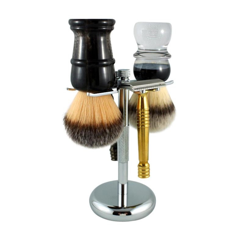 RazoRock - Deluxe Shaving Brush & Razor Stand - 4 Prong