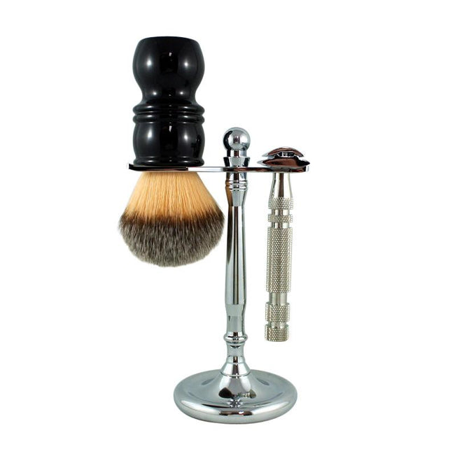 RazoRock - Elegant Chrome Razor and Brush - Stand #4