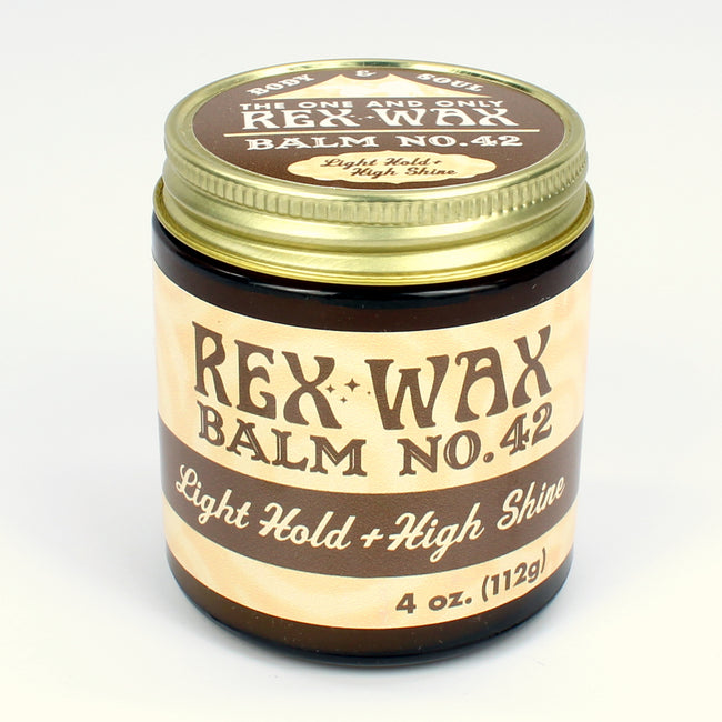 Rex Wax - Balm No.  42 Light Hold High Shine 4oz Pomade