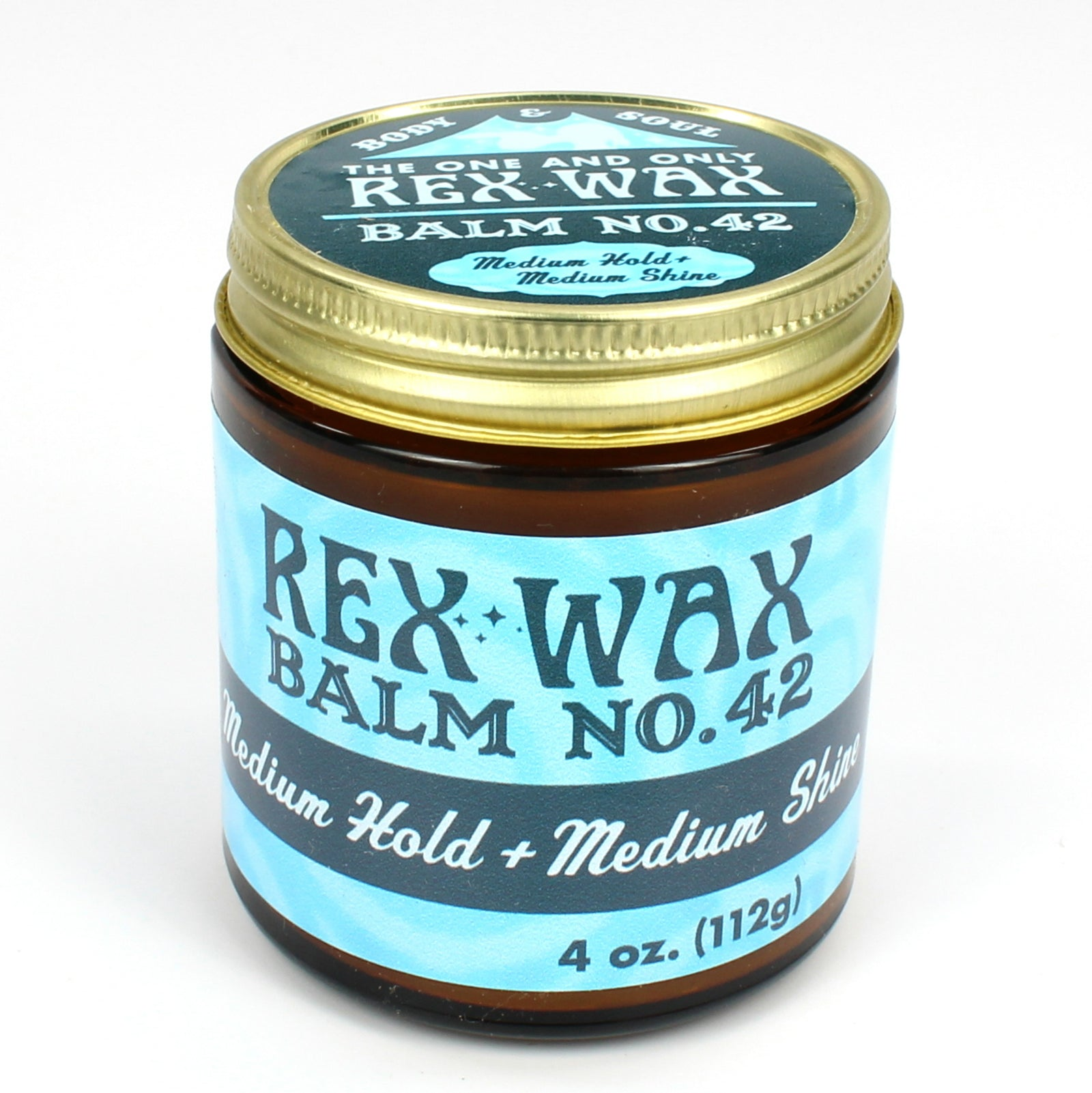 Rex Wax - Balm No.  42 Medium Hold Medium Shine 4oz Pomade