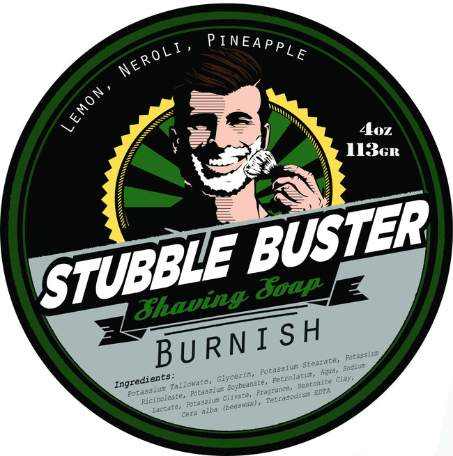 Stubble Buster - Burnish - Handmade Shaving Soap