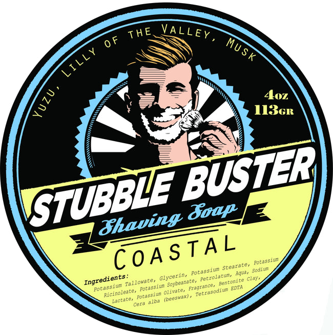 Stubble Buster - Coastal - Handmade Shaving Soap