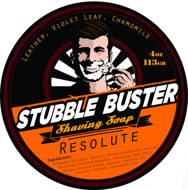Stubble Buster - Resolute - Handmade Shaving Soap