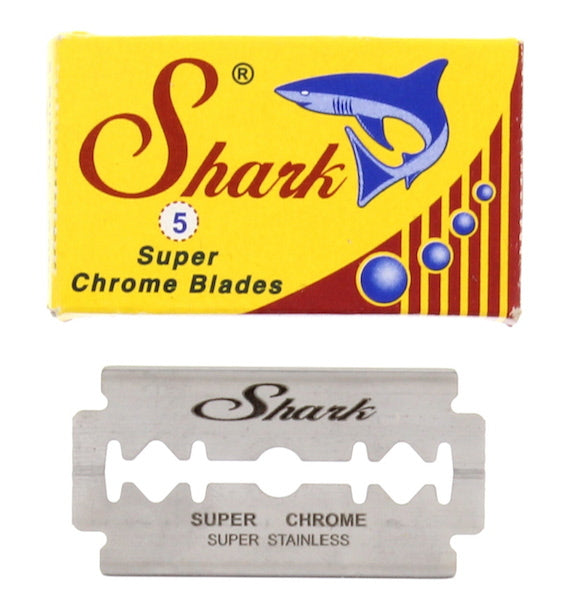 Shark DE Super Chrome Safety Razor Blades 5 Pack