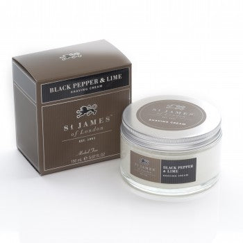 St. James of London - Black Pepper & Persian Lime Shave Jar 5.07 oz